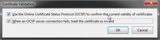 Firefox: Certificate Validation